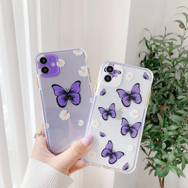 Purple Butterfly Protective iPhone Case