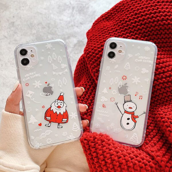 Christmas Clear iPhone 12 Case