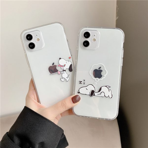 Cool Funny Snoopy Peanuts Clear Phone Case for iPhone