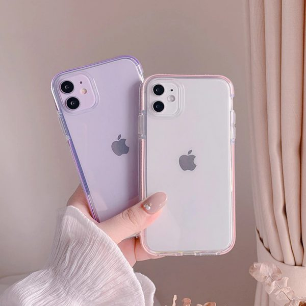 Shockproof Clear Pink iPhone 11 Pro Max Case