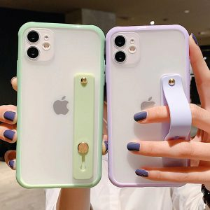 Wrist Strap Clear iPhone 12 Case