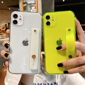 Wrist Strap Neon iPhone 12 Case