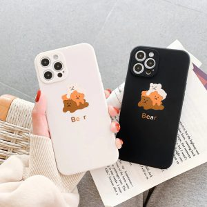 Funny Bears Shockproof iPhone 12 Case