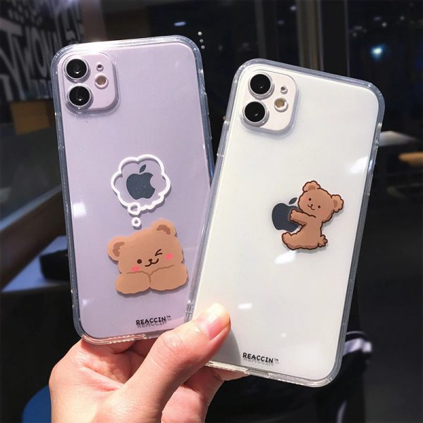 Funny Cartoon Bear iPhone Case