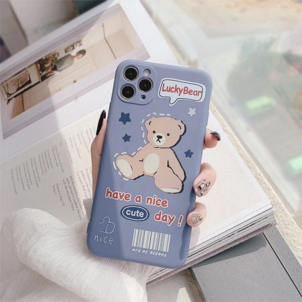 Lucky Bear Blue iPhone 12 Case