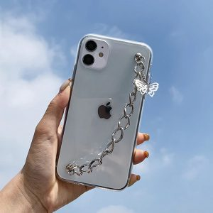 Butterfly Chain Clear iPhone 12 Case