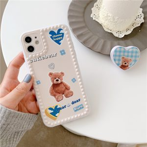 Cute Bear iPhone 12 Case - FinishifyStore
