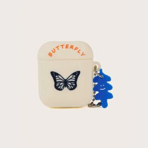 Beige Butterfly Airpods Case - FinishifyStore