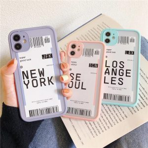 Cute Label Protective iPhone 12 Case