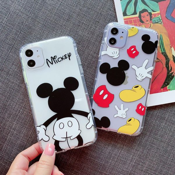 Cute Cartoon Mickey Mouse Clear iPhone Case