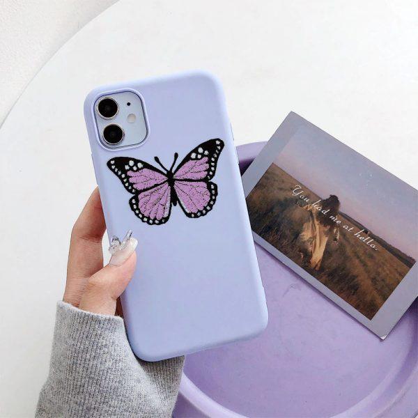 Cute Purple Butterfly iPhone 12 Case