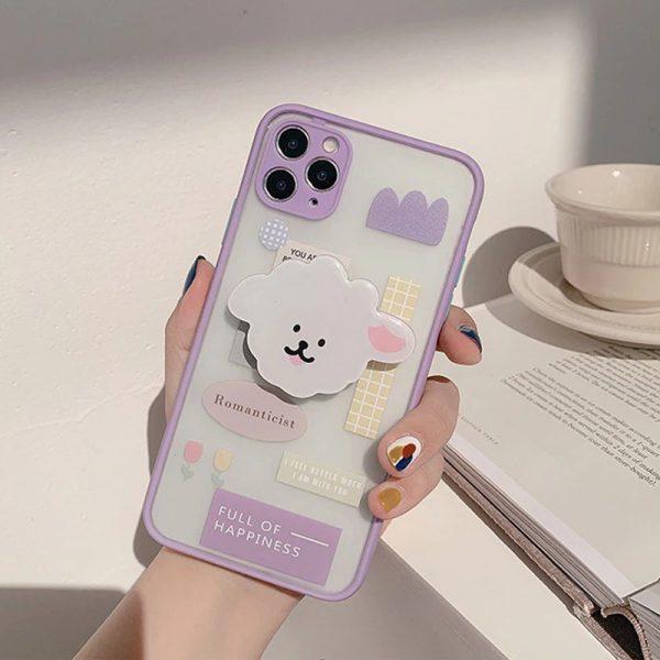 Cute Purple Shockproof iPhone 12 Pro Max Case