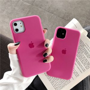 Purple Soft Silicone iPhone 12 Case - Finishify-Store