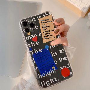 Fashion Transparent iPhone 12 Pro Max Case