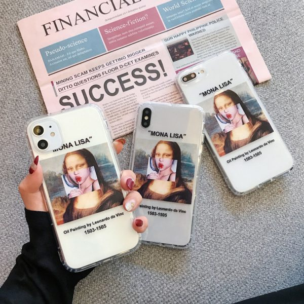 Funny Mona Lisa iPhone 12 Case