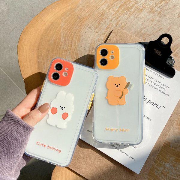 Funny Rabbit Bear iPhone 11 Pro Max Case