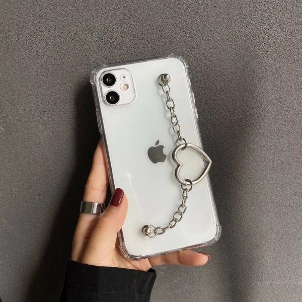 Heart Chain Clear iPhone 12 Case