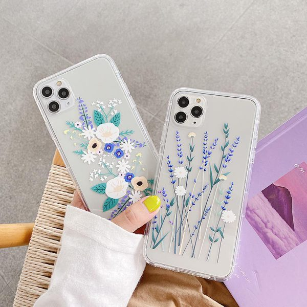 Floral Clear iPhone 12 Case