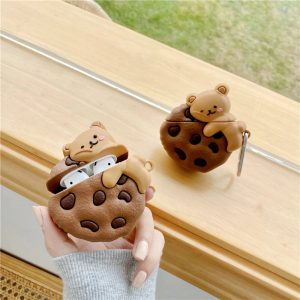 Bear Cookie Design Airpods Case