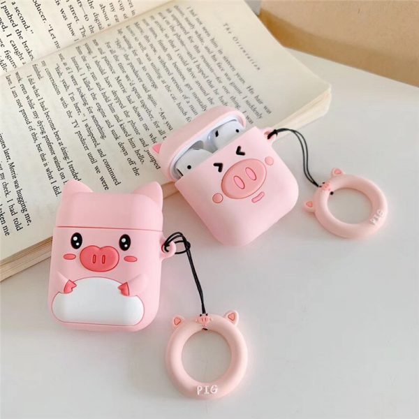 Funny Cartoon Pink Pig Airpods Cases - FinishifyStore