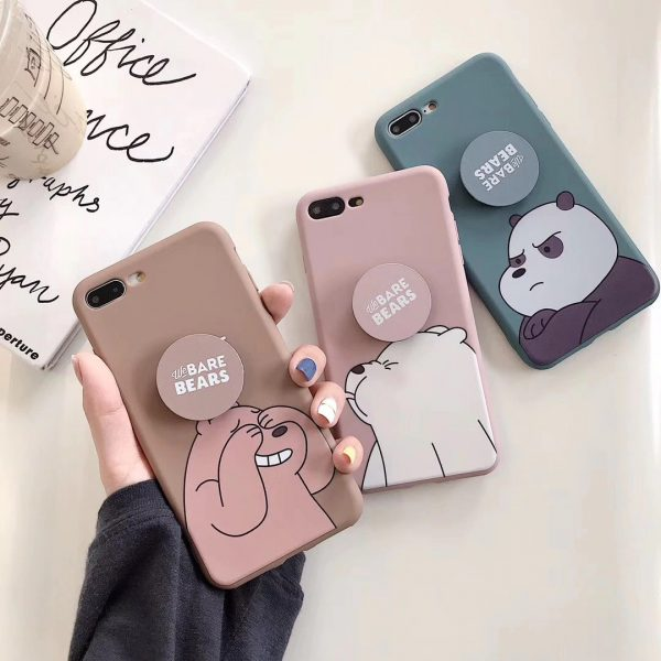 Cartoon Funny We Bare Bears Design iPhone Cases