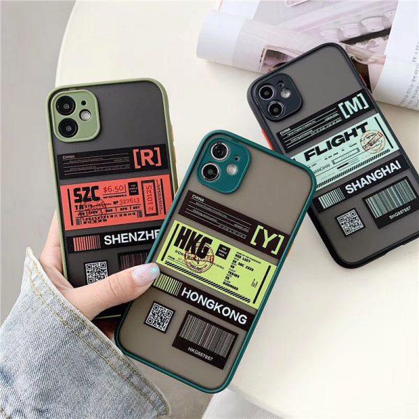 Cute Travel City Label iPhone Case - FinishifyStore