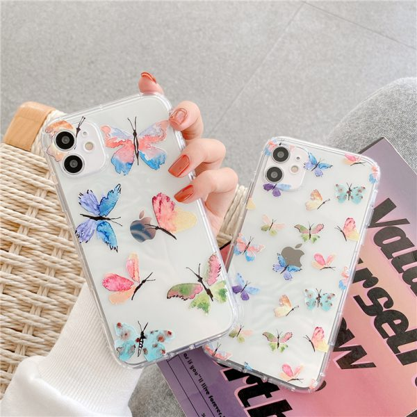 Cute Butterfly Clear iPhone 12 Case