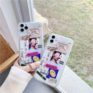 Cute Creative Fashion Clear iPhone Case