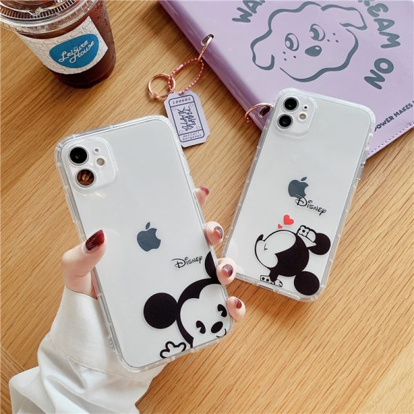 Cute Mickey Mouse Clear iPhone Cases