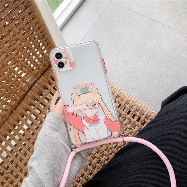 Cute sailor moon clear iPhone Case