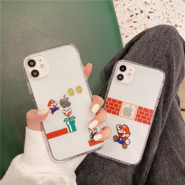Super Mario Clear iPhone 12 Case