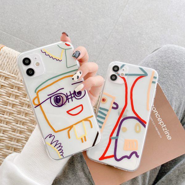 Cute Graffiti Clear iPhone 12 Case