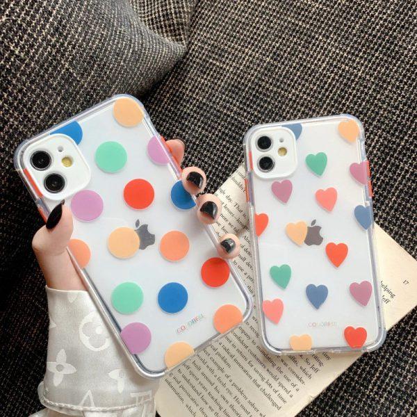 Heart Polka Dots iPhone Case