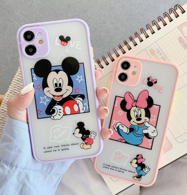 Cute Funny Cartoon Mickey Mouse Shockproof iPhone Case