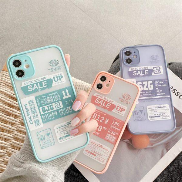 Stamp Label Design iPhone Case