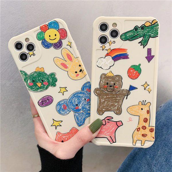 Funny Painting Animals iPhone Case - FinishifyStore