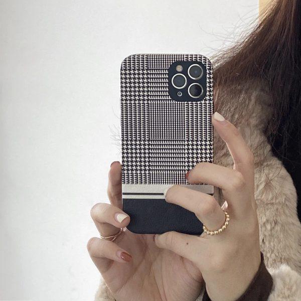 Fashion Houndsstooth Pattern Design iPhone 11 Pro Max Case