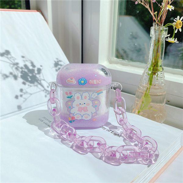 Cute Purple Glitter Design AirPods Case - FinishifyStore