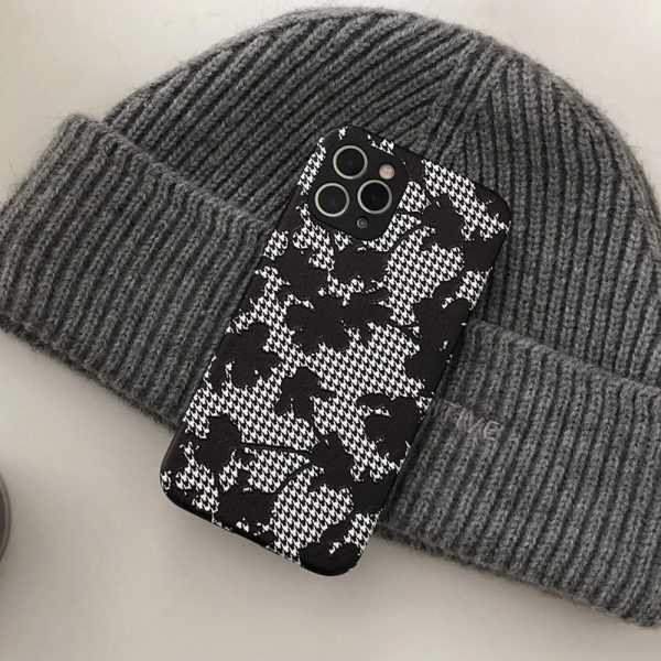 Fashion Black Flowers Design iPhone 12 Pro Max Case