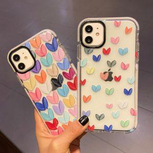 Cute Hearts Design Clear iPhone Case