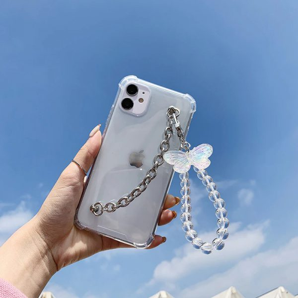 Cute Butterfly Chain iPhone Case