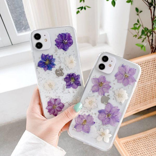 Real Pressed Flower iPhone Case