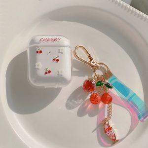 Cherry Clear AirPod Case - FinishifyStore