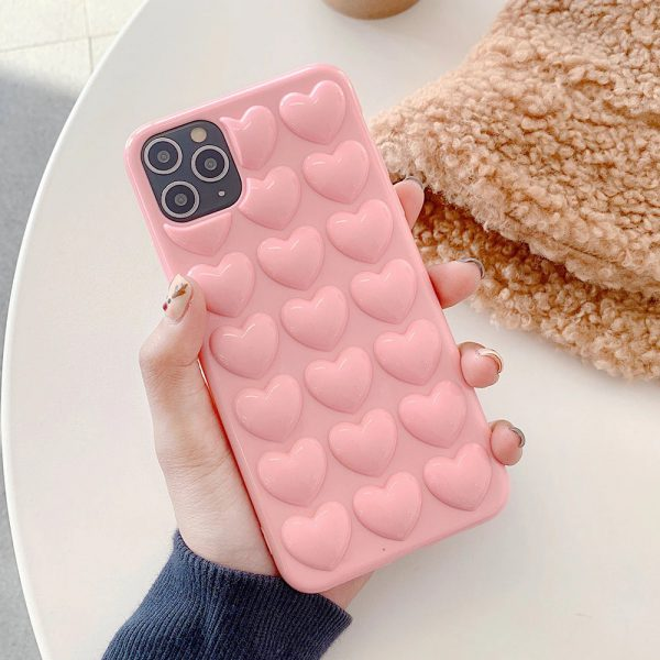 3D Love Pink Hearts Cases - FinishifyStore