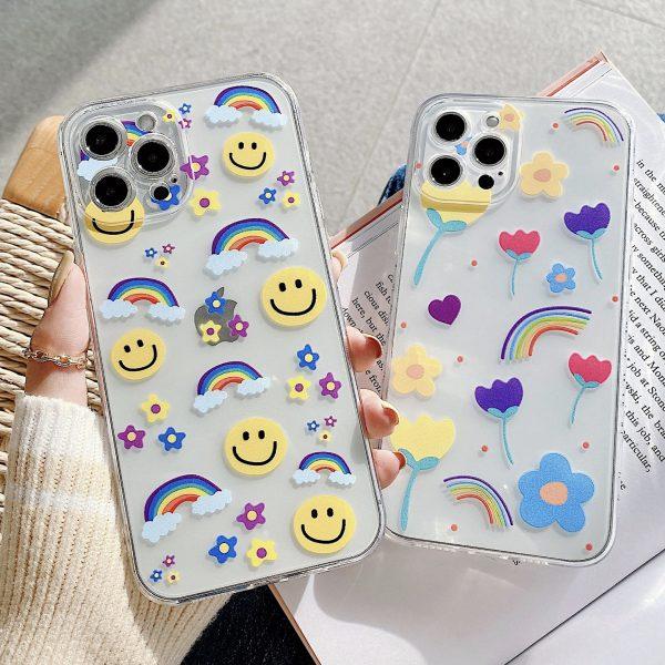 Smile & Rainbow iPhone Case